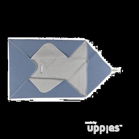Uppies baby - Omslagdoek / Wikkelcape zomer Oud Blauw