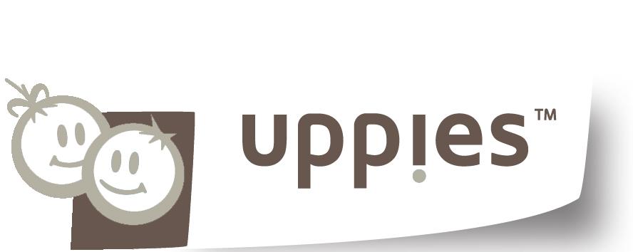 logo made by uppies met grijs en kuppies