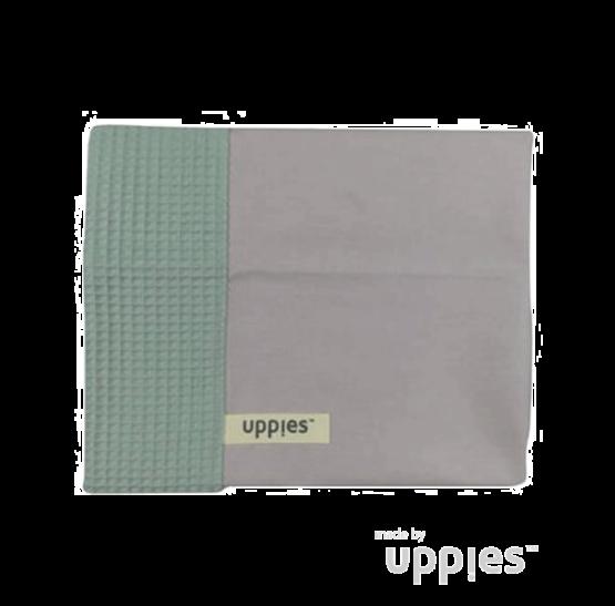 Uppies-laken-grijs-groen
