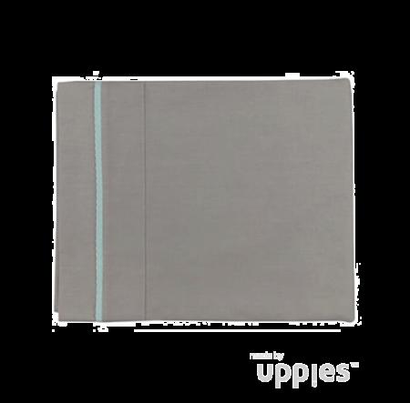 Ledikantlaken grijs Uppies Bies Mint