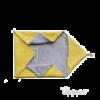 Uppies Omslagdoek/Wikkelcape geel