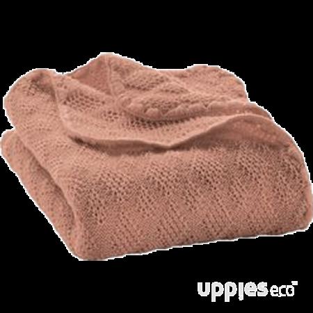 Uppies baby - deken Disana wol gebreid roze