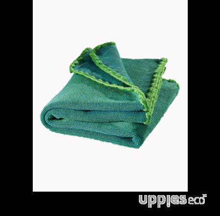 Disana Mélange wollen babydeken groen-blauw