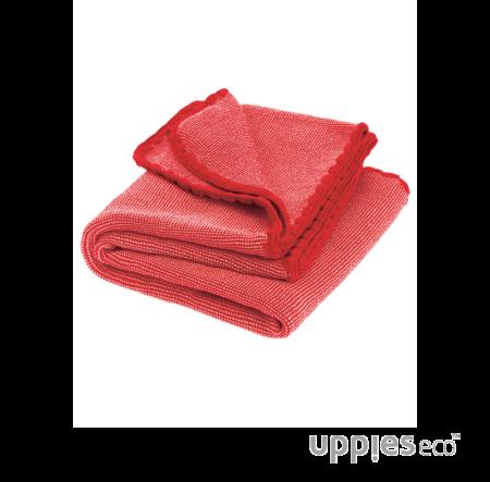 Disana Mélange wollen babydeken rood-roze