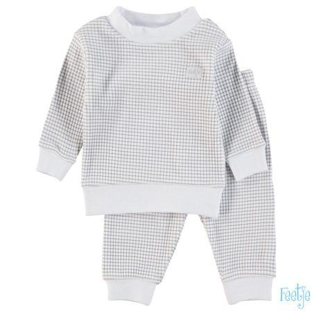 Uppies baby - pyjama wafel Feetje  grijs