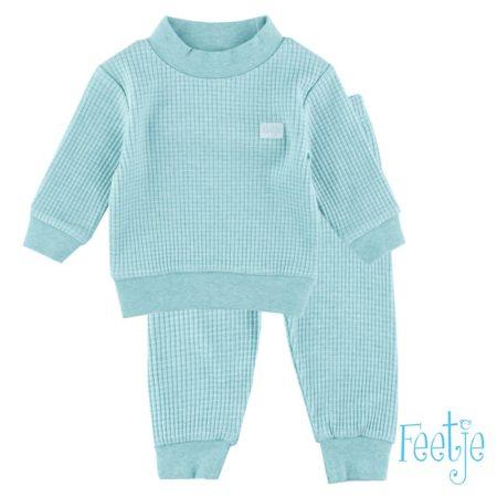 Uppies baby - pyjama wafel Feetje  groen melange