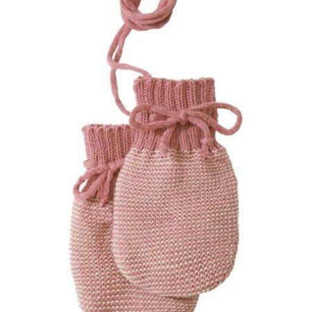 Uppies baby - Wantjes Disana gebreid Oud roze