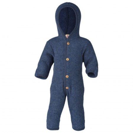 Uppies baby - Pakje Engel wol fleece Donker blauw