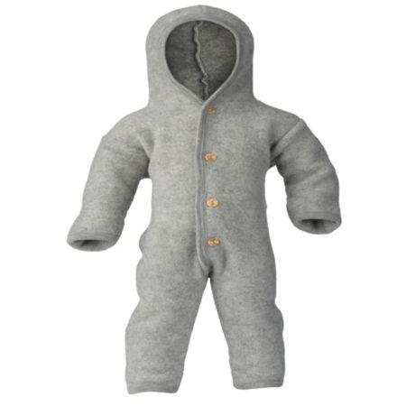 Uppies baby - Pakje Engel wol fleece Grijs