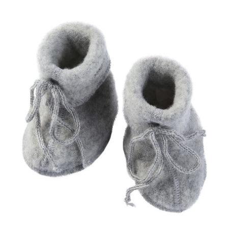 Uppies Baby - slofjes Engel wol fleece Grijs