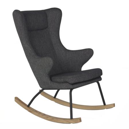 Uppies baby - schommelstoel Quax Deluxe Donker grijs