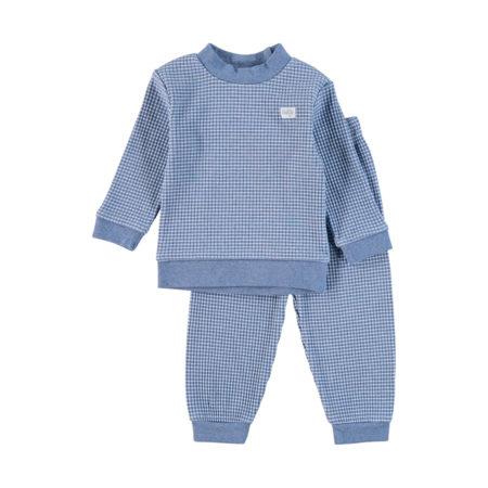 Uppies baby - pyjama wafel Feetje Blauw