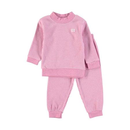 Uppies baby - pyjama wafel Feetje Roze