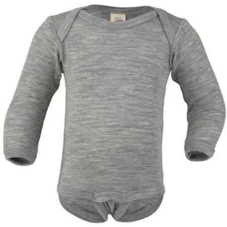 Uppies Baby - romper Engel grijs wol zijde
