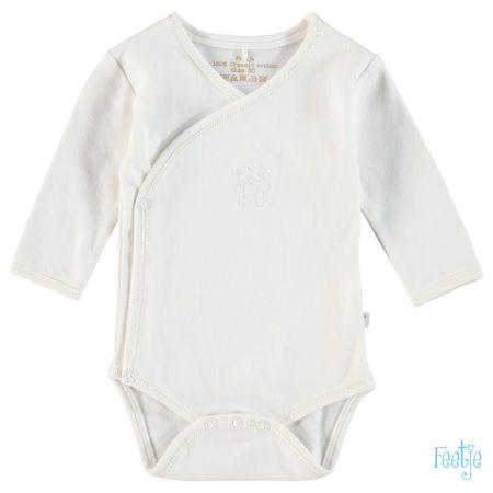Uppies baby - Wikkelrompertje Feetje Organic gebroken wit Prematuur