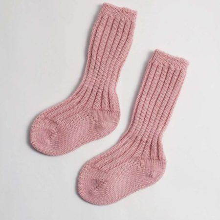 Uppies baby - Gebreide sokjes grödo roze