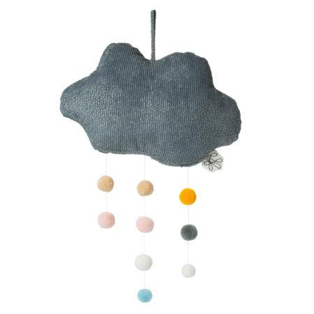 Knuffel wolk Picca LouLou grijs