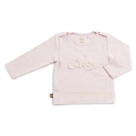 Frogs & Dogs New Born Basic Shirt ''Okey'' Pink Melange