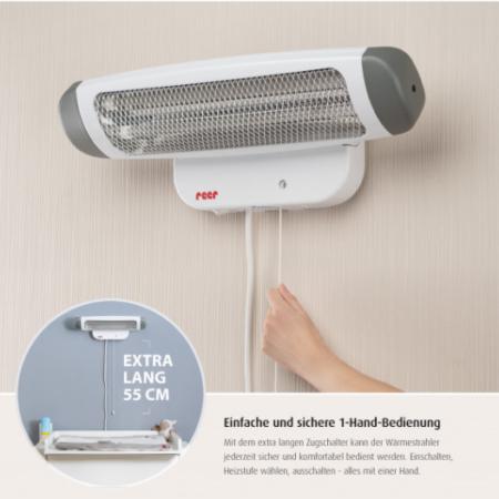 Warmtelamp Reer muurbevestiging